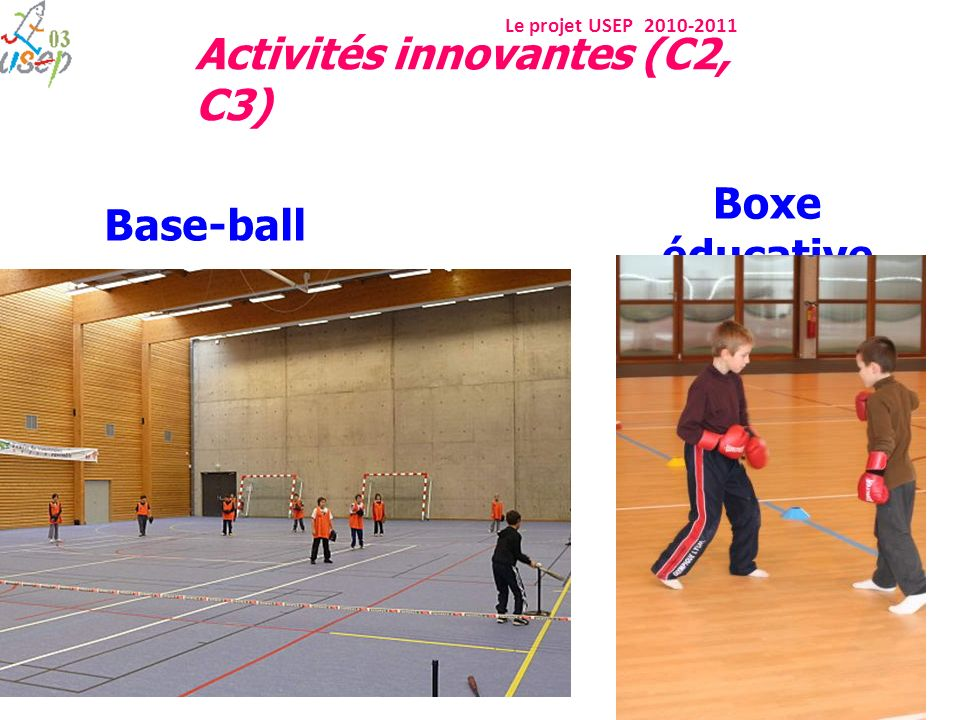 Boxe éducative Base-ball Activités innovantes (C2, C3)