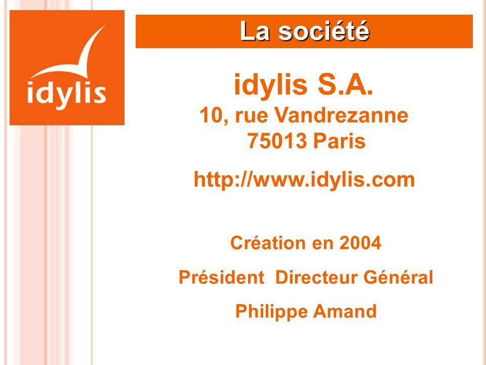 idylis S.A. 10, rue Vandrezanne 75013 Paris