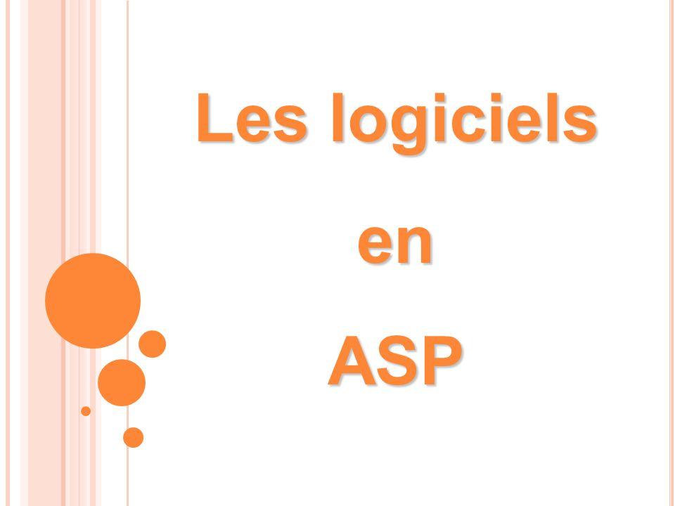 Les logiciels en ASP