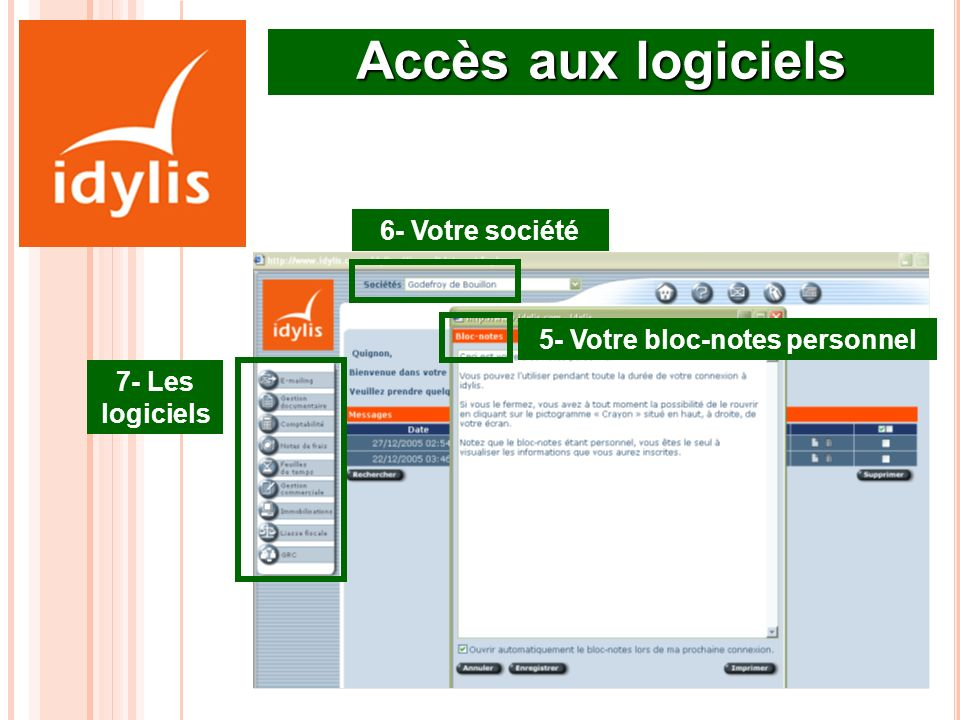 5- Votre bloc-notes personnel