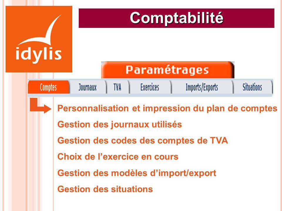 Comptabilité Personnalisation et impression du plan de comptes