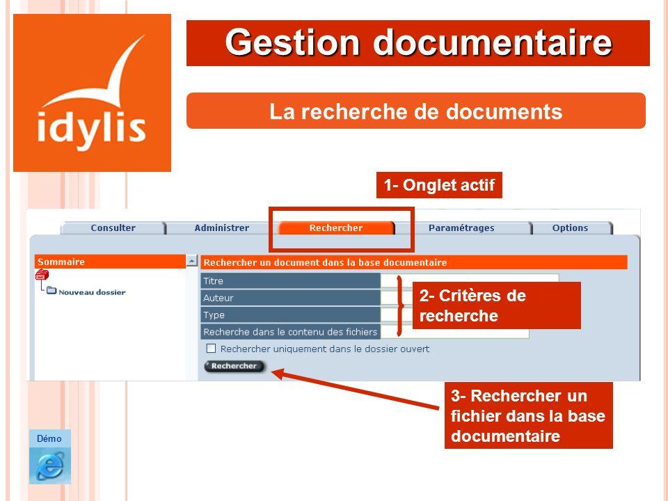 La recherche de documents