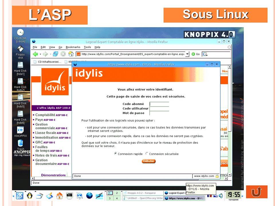L'ASP Sous Linux