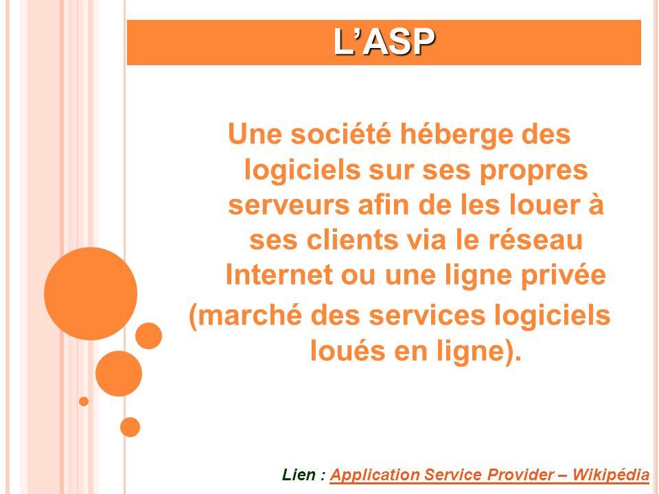 (marché des services logiciels loués en ligne).