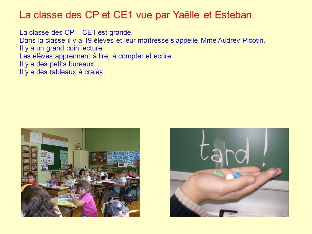 La classe des CP et CE1 vue par Yaëlle et Esteban