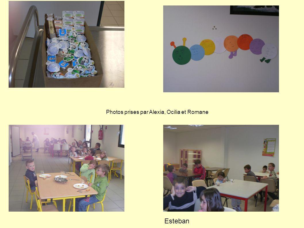 Photos prises par Alexia, Ocilia et Romane