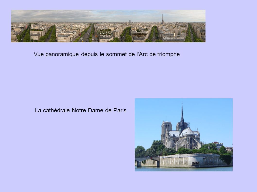Vue panoramique depuis le sommet de l Arc de triomphe