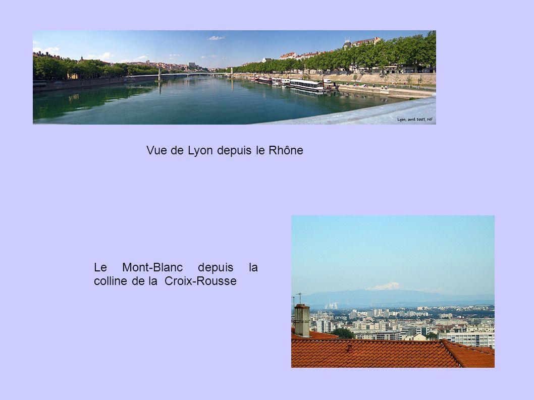 Vue de Lyon depuis le Rhône