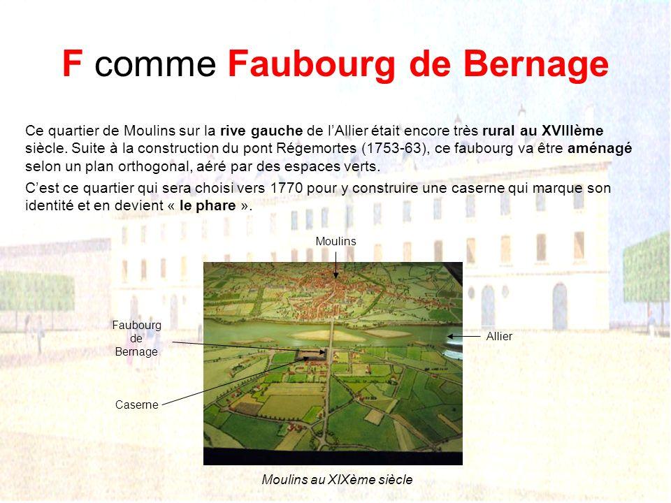 F comme Faubourg de Bernage