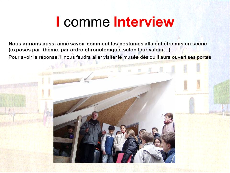 I comme Interview