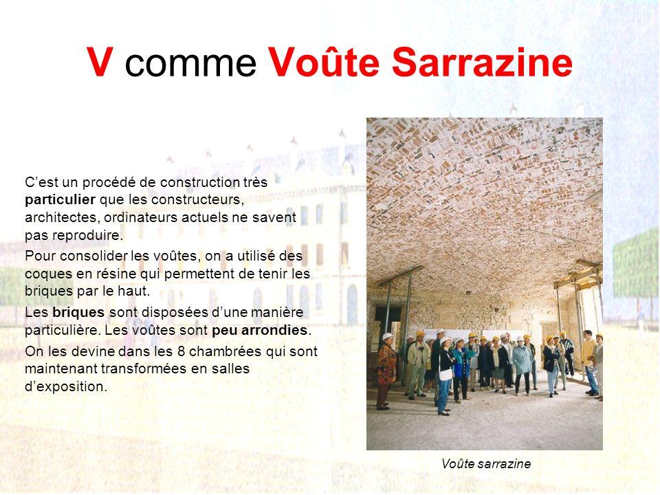 V comme Voûte Sarrazine