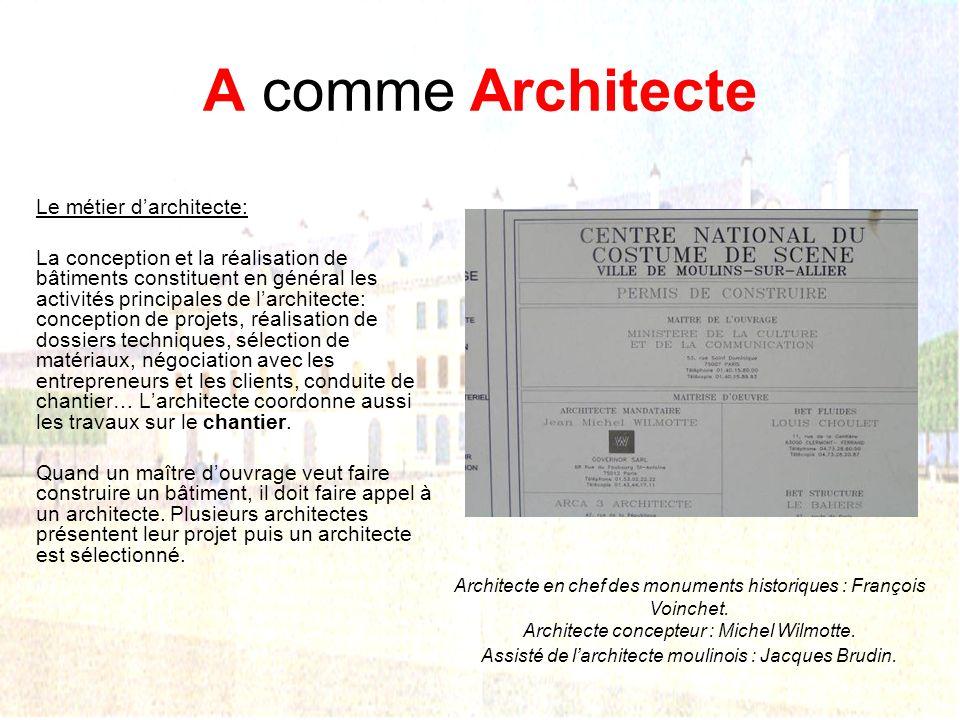 A comme Architecte Le métier d'architecte: