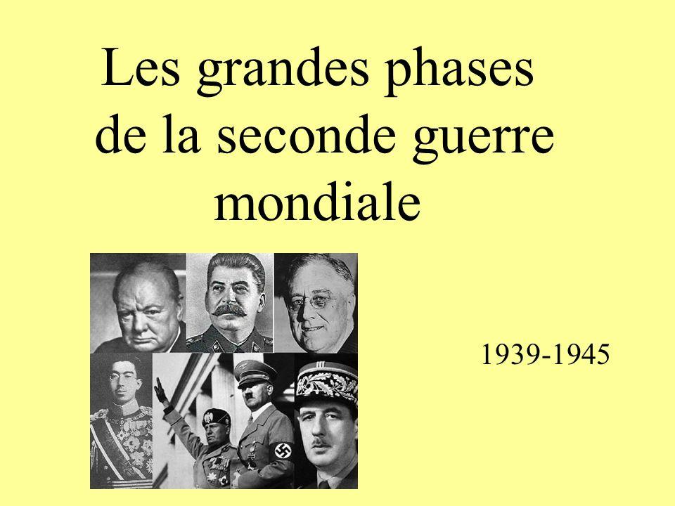 Les grandes phases de la seconde guerre mondiale