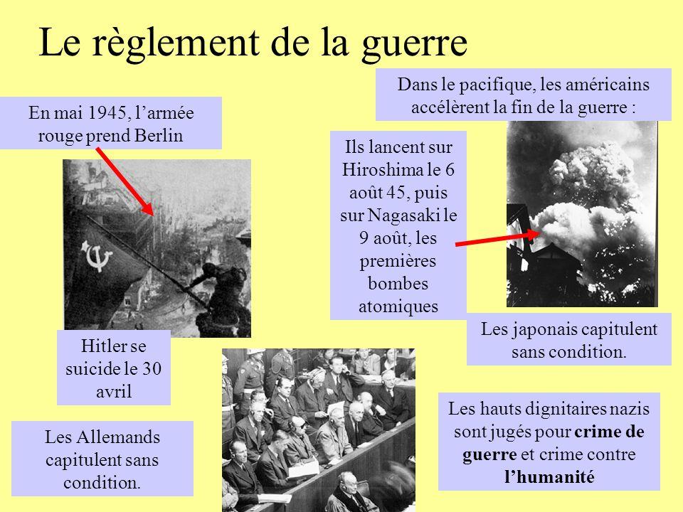 Le règlement de la guerre