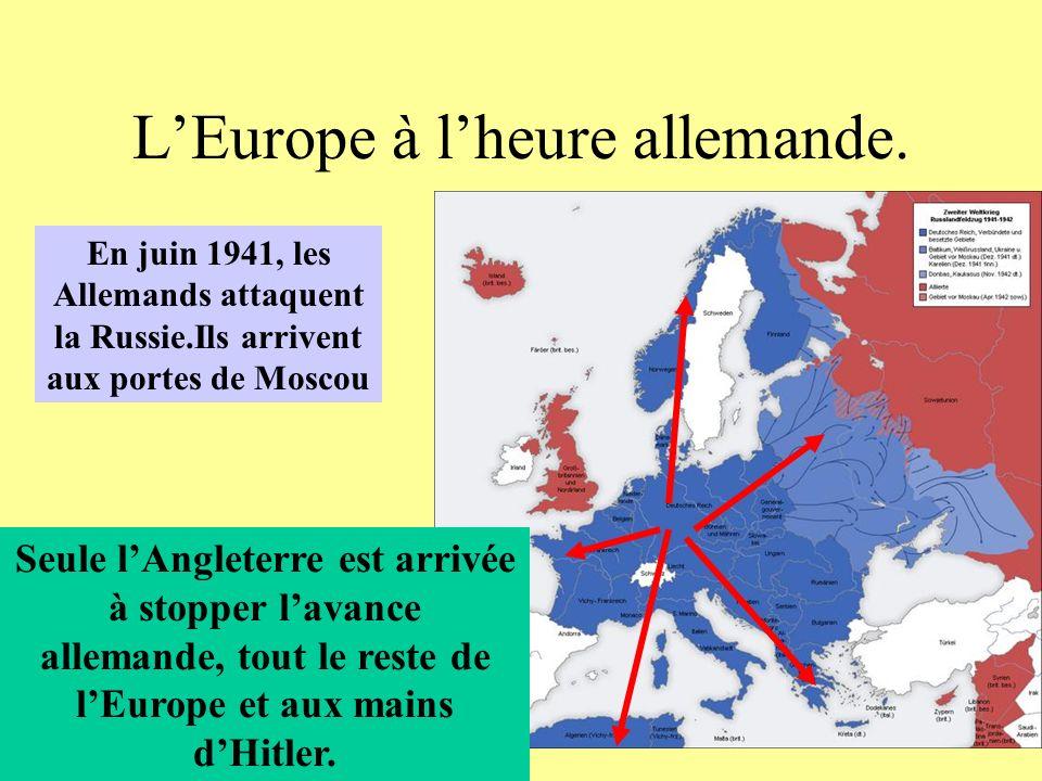 L'Europe à l'heure allemande.