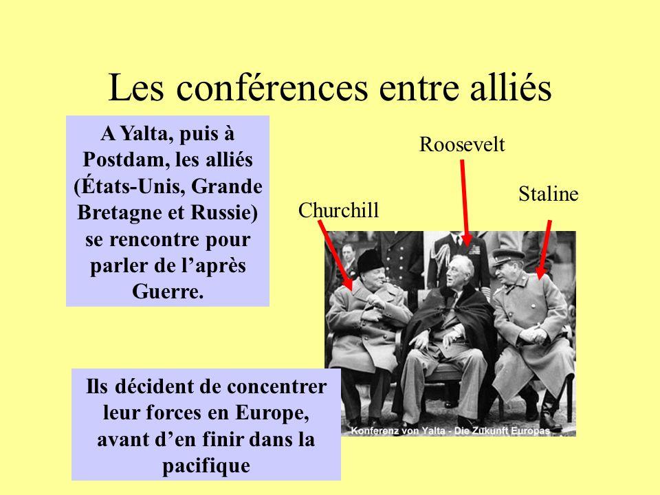 Les conférences entre alliés