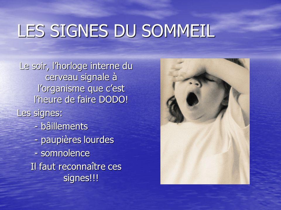 Il faut reconnaître ces signes!!!