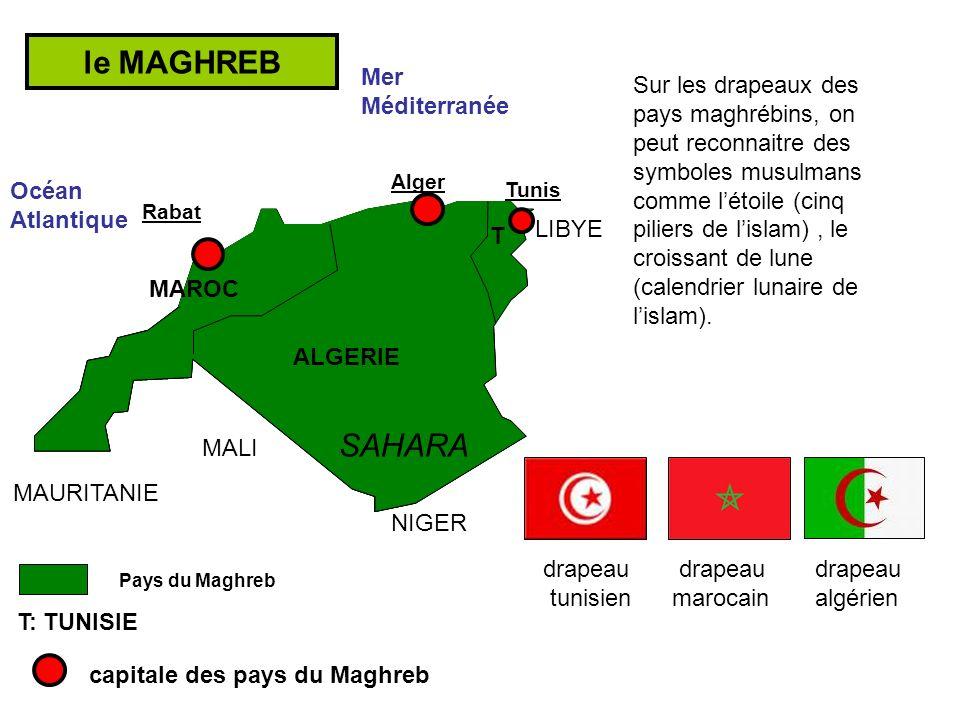 le MAGHREB SAHARA Mer Méditerranée
