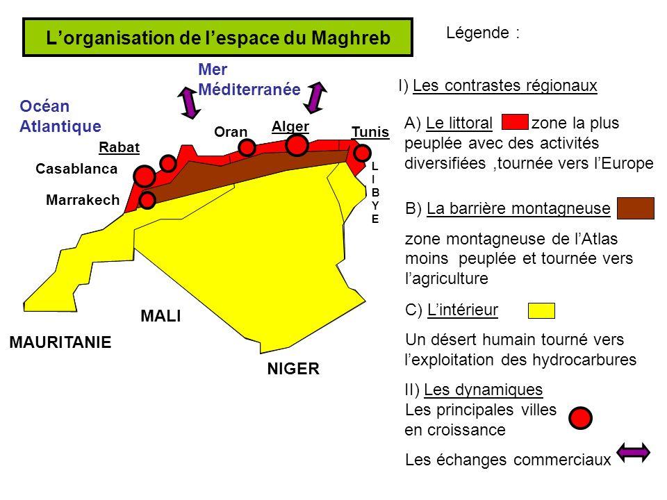 L'organisation de l'espace du Maghreb