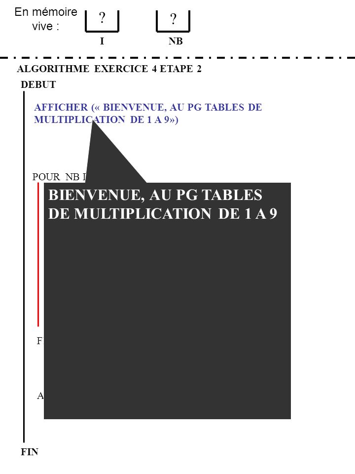 BIENVENUE, AU PG TABLES DE MULTIPLICATION DE 1 A 9