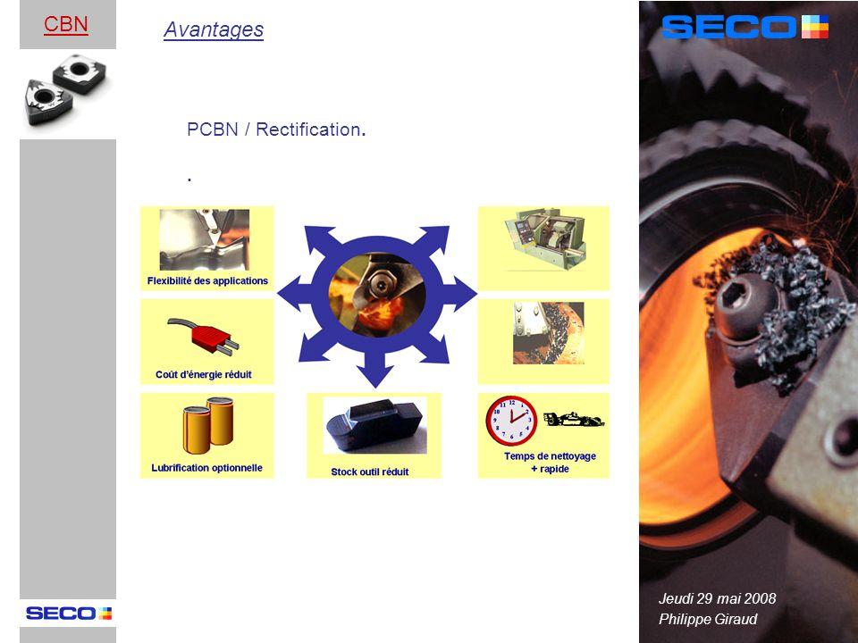 CBN Avantages PCBN / Rectification. . Jeudi 29 mai 2008
