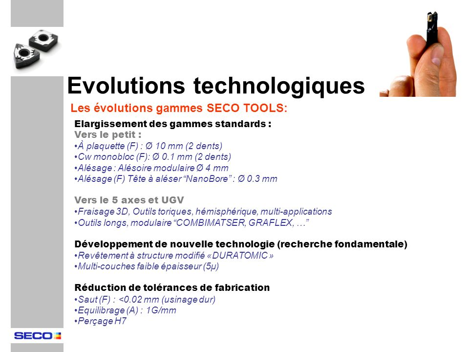 Evolutions technologiques