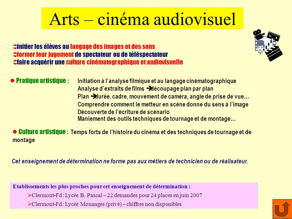 Arts – cinéma audiovisuel