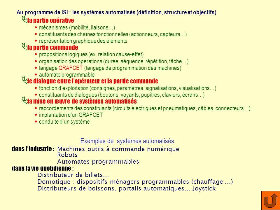 Exemples de systèmes automatisés