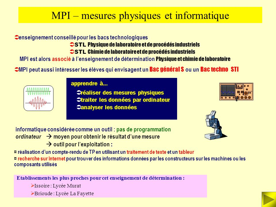 MPI – mesures physiques et informatique
