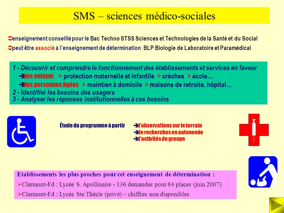 SMS – sciences médico-sociales