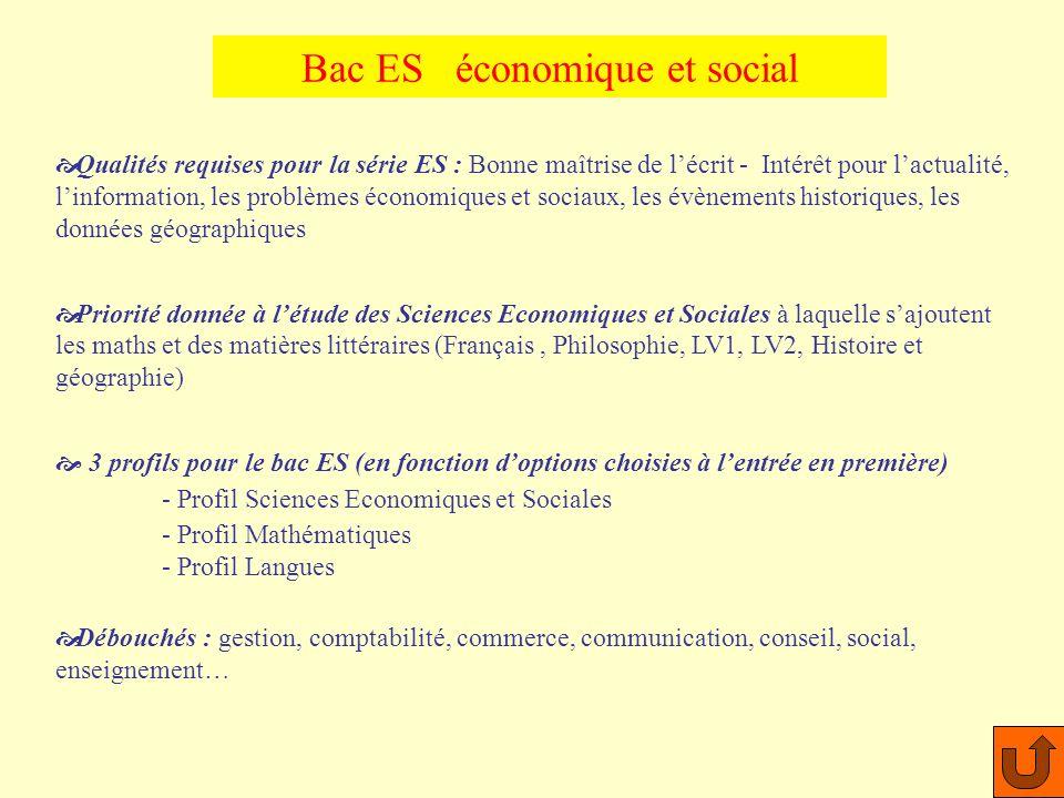 Bac ES économique et social