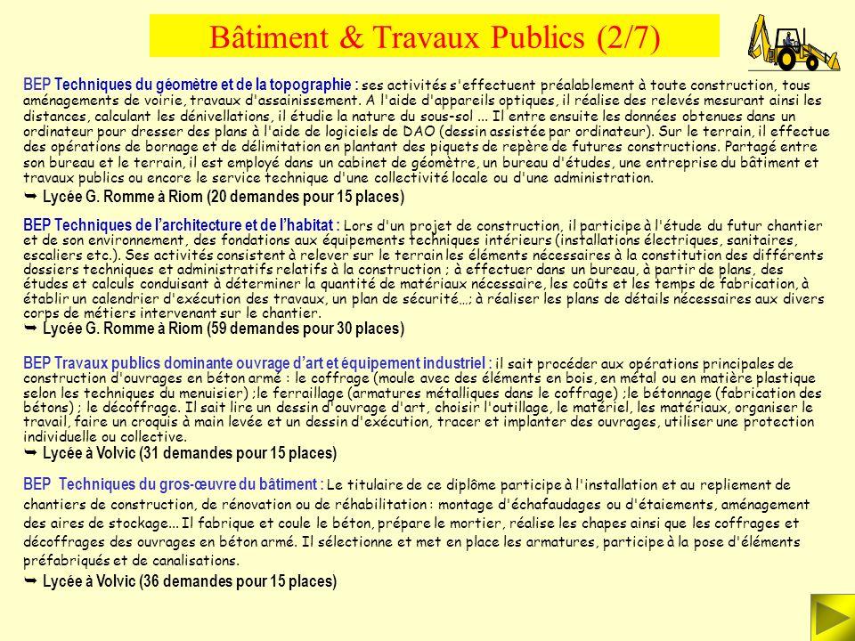 Bâtiment & Travaux Publics (2/7)