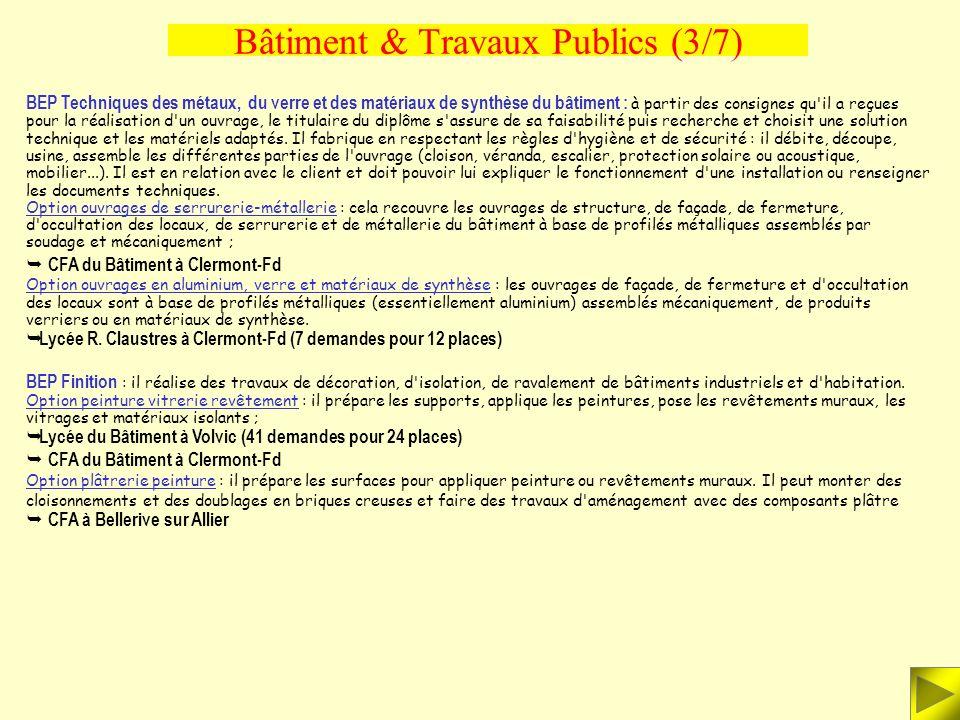 Bâtiment & Travaux Publics (3/7)