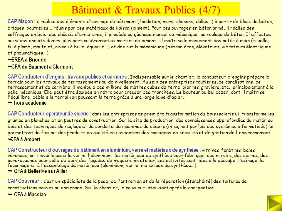 Bâtiment & Travaux Publics (4/7)