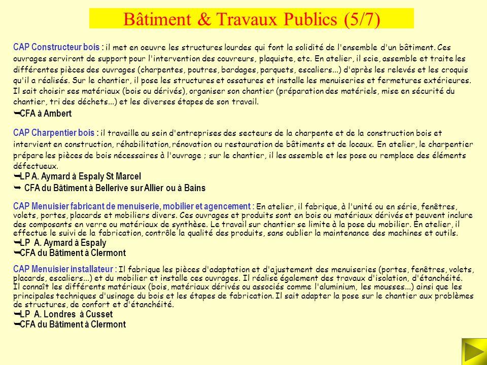 Bâtiment & Travaux Publics (5/7)