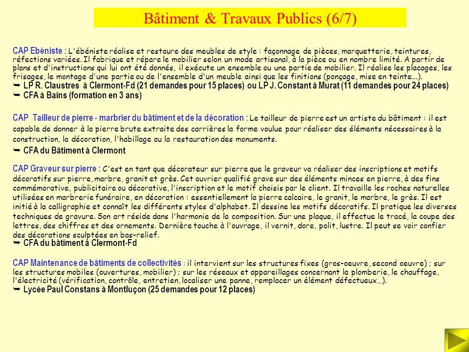 Bâtiment & Travaux Publics (6/7)