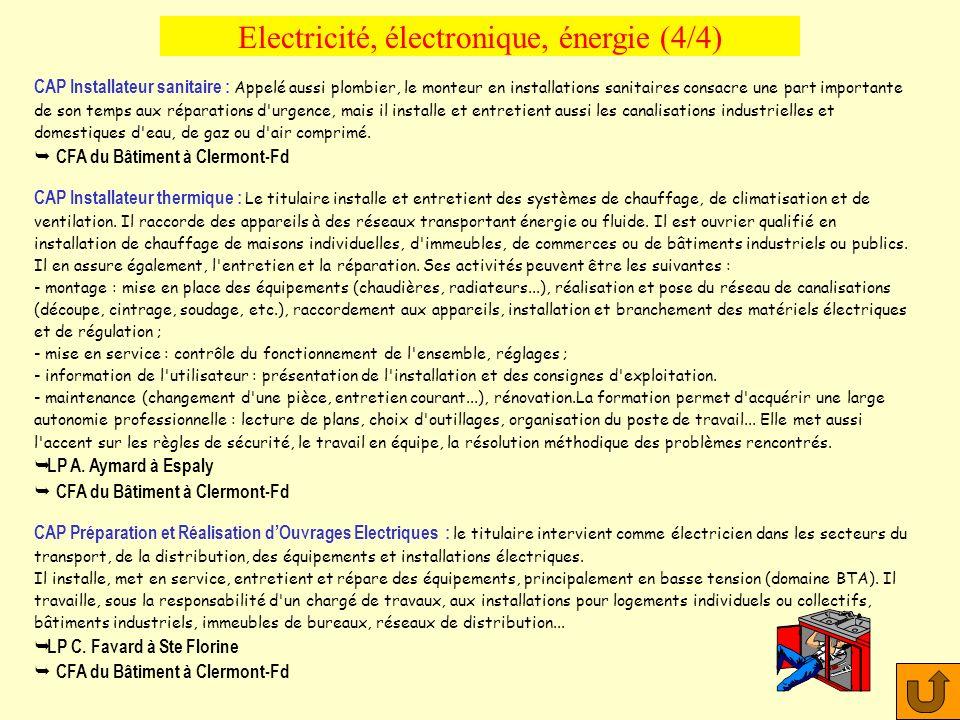 Electricité, électronique, énergie (4/4)