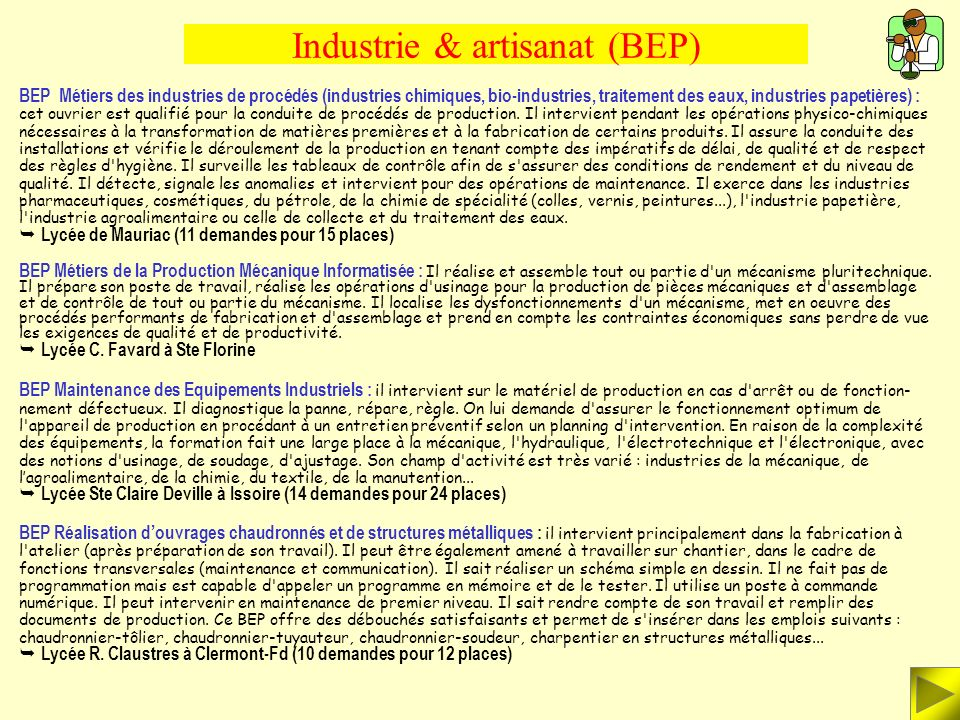 Industrie & artisanat (BEP)
