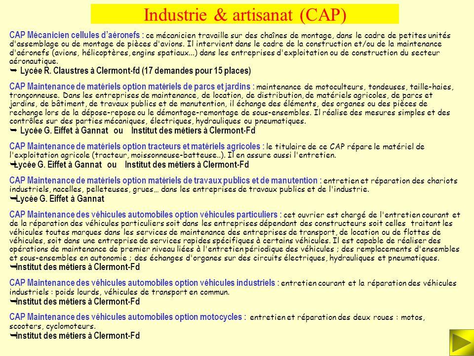 Industrie & artisanat (CAP)