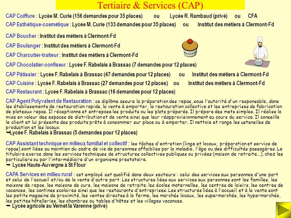 Tertiaire & Services (CAP)