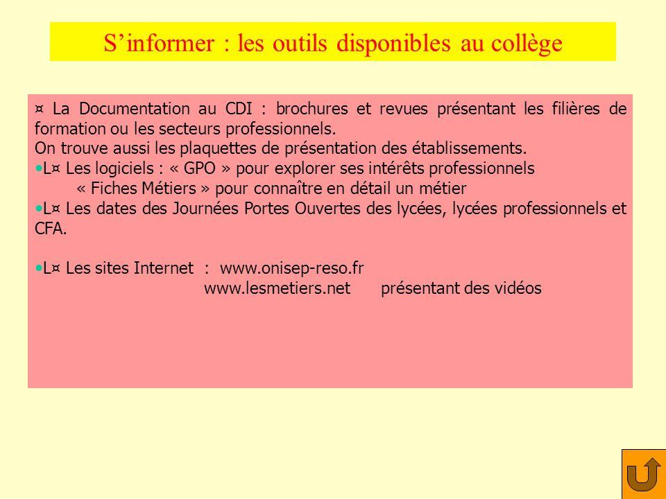 S'informer : les outils disponibles au collège