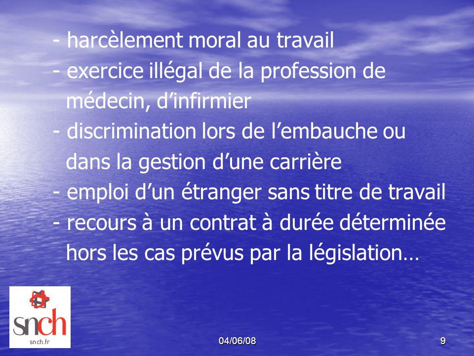 - exercice illégal de la profession de médecin, d'infirmier