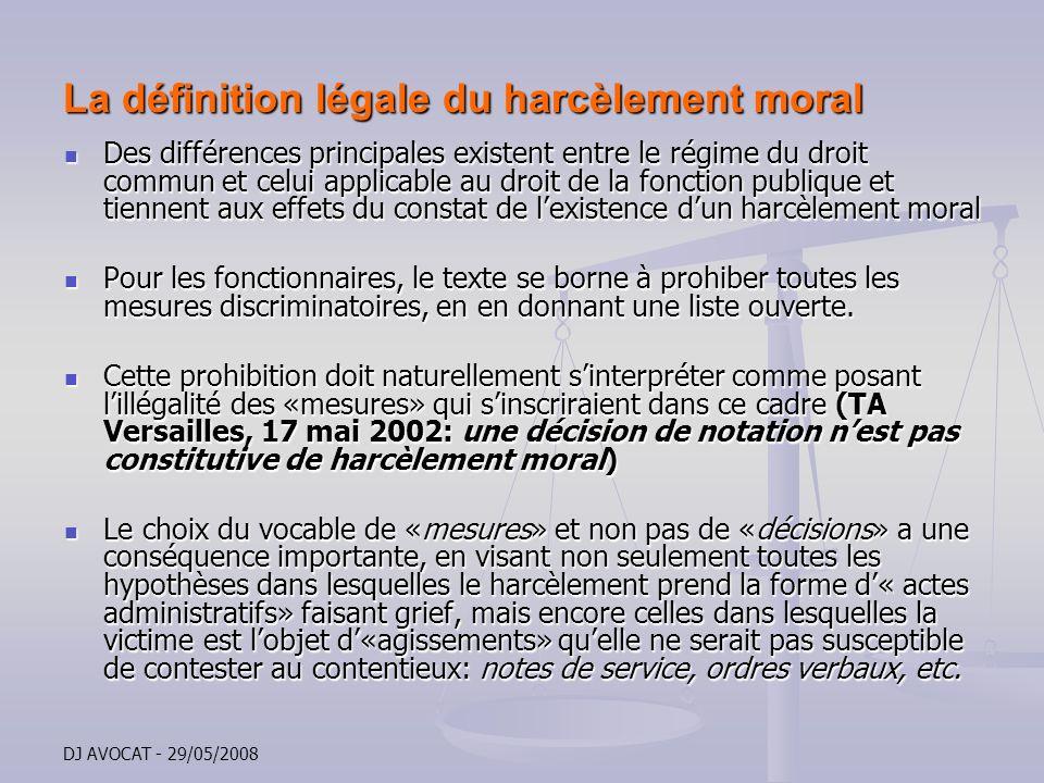 La définition légale du harcèlement moral