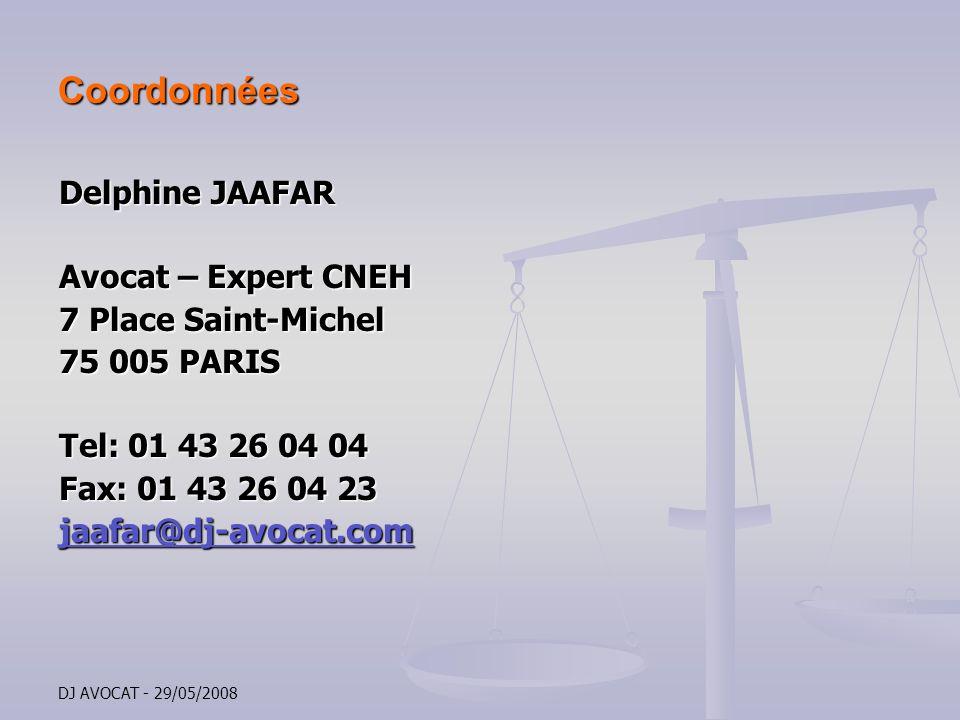 Coordonnées Delphine JAAFAR Avocat – Expert CNEH 7 Place Saint-Michel