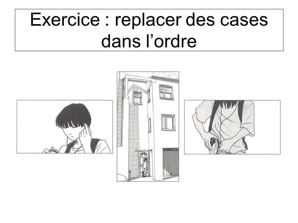 Exercice : replacer des cases dans l'ordre