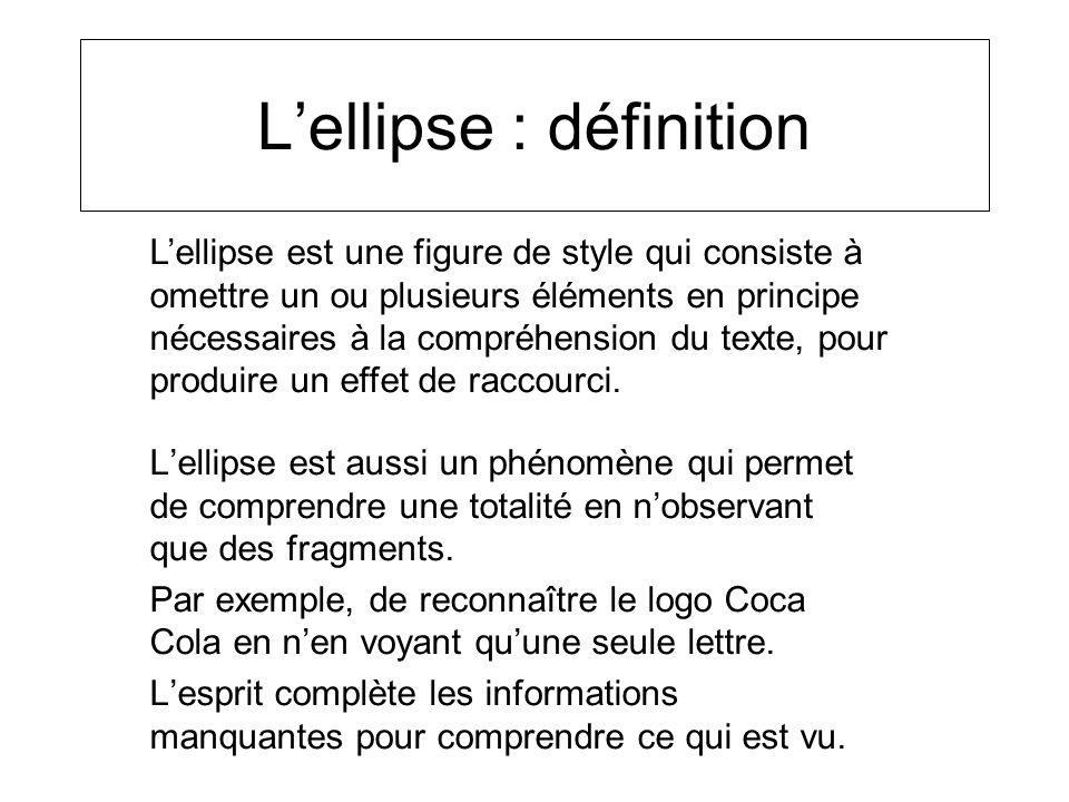 L'ellipse : définition
