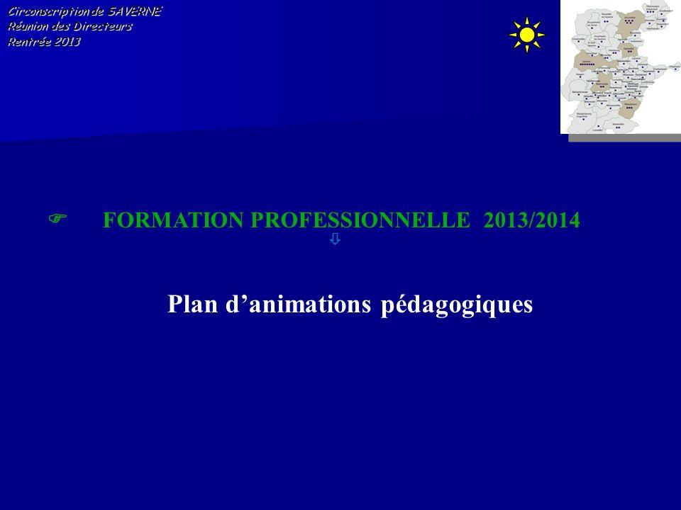 Plan d'animations pédagogiques