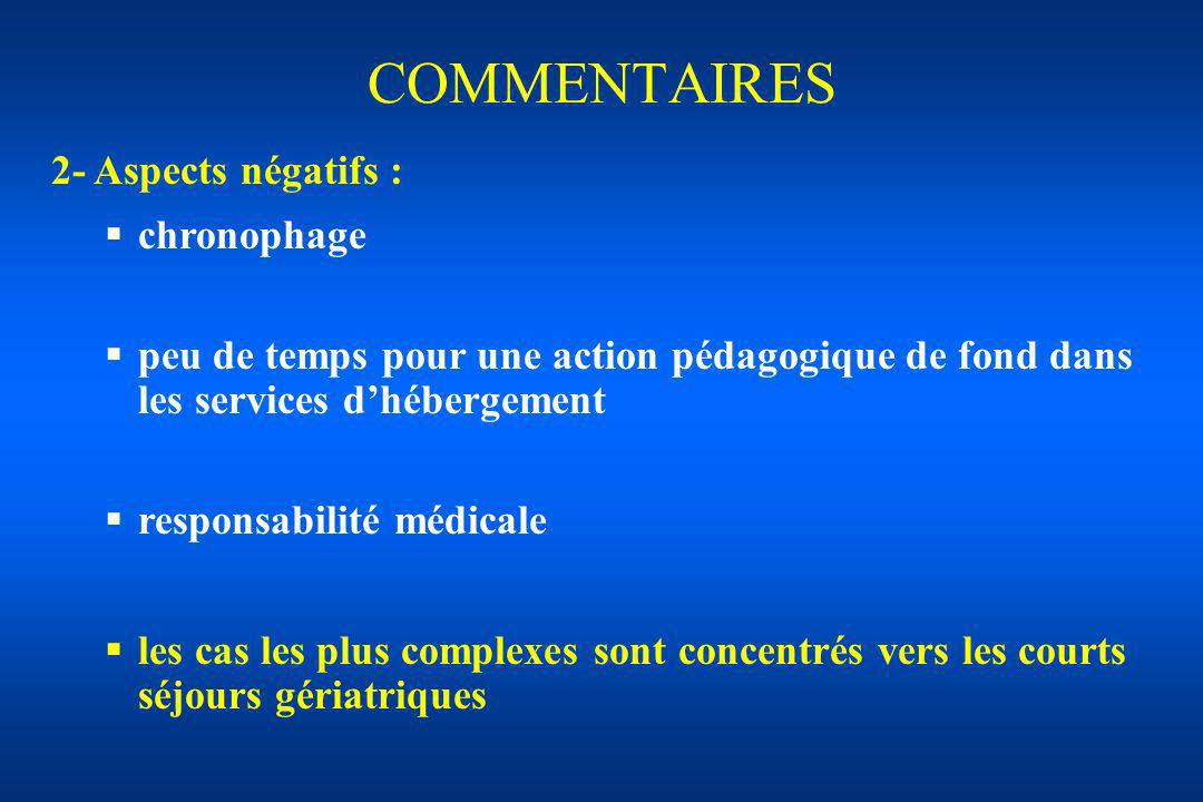 COMMENTAIRES 2- Aspects négatifs : chronophage