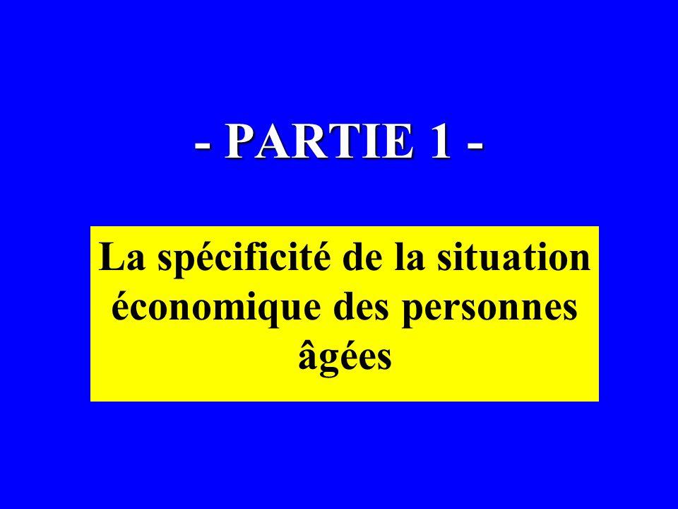 La spécificité de la situation économique des personnes âgées