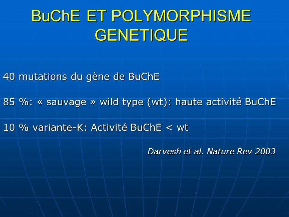 BuChE ET POLYMORPHISME GENETIQUE